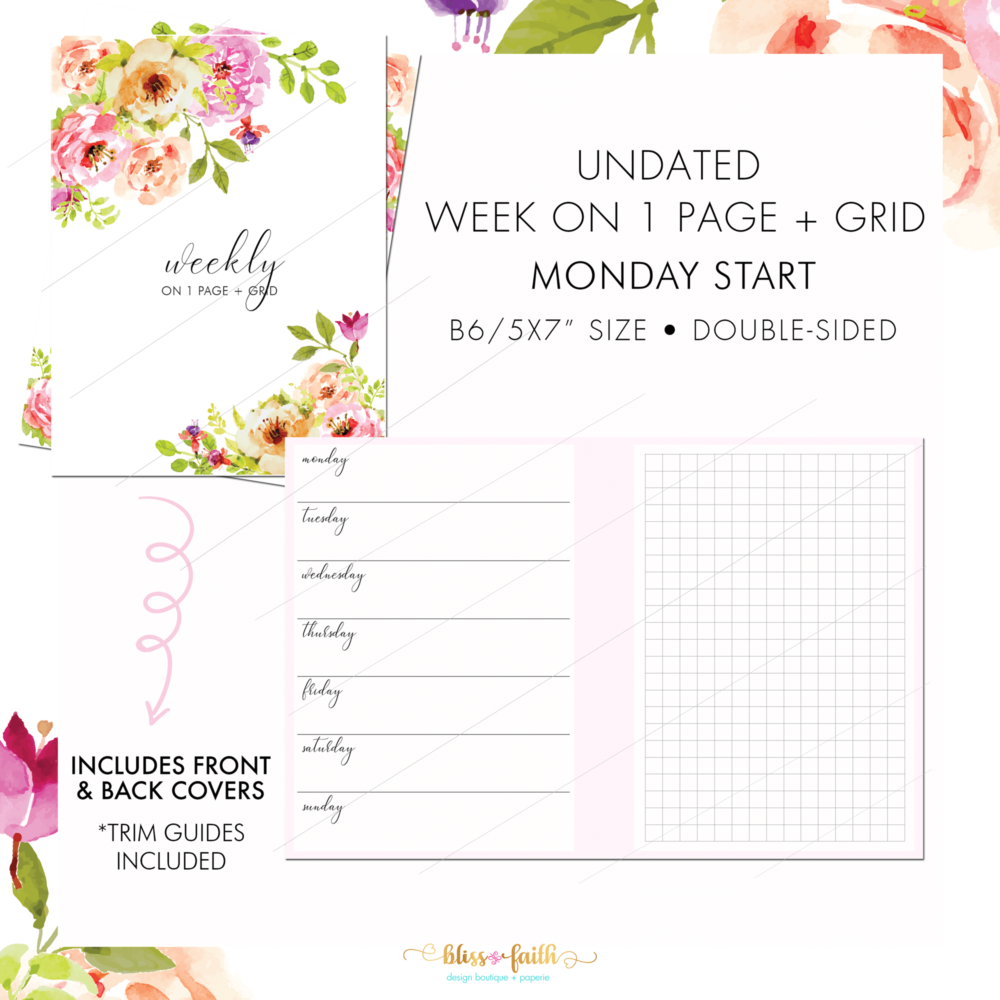 Undated Horizontal WO1PG + Grid B6 | BlissandFaith.com
