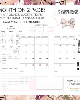 Month On Two Pages + Financials - B6 Rings | BlissandFaith.com