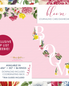Bloom Journaling Card Freebie | BlissandFaith.com