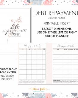 Debt Repayment Snowball Method B6 Freebie | BlissandFaith.com