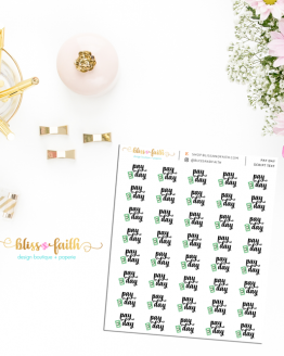 Pay Day Script Text Function Planner Sticker   BlissandFaith.com