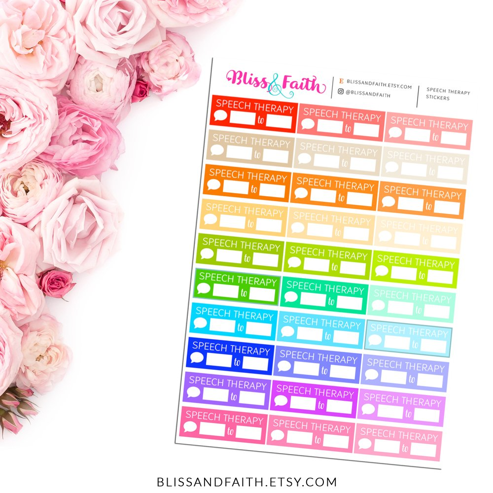 Speech Therapy Script Text Function Planner Sticker | BlissandFaith.com