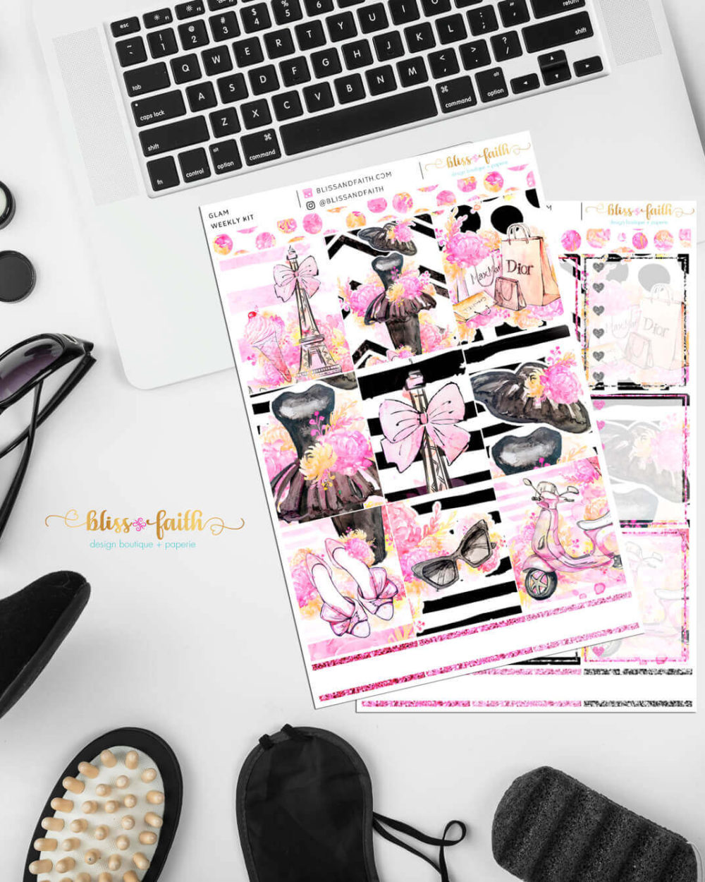 Glam Weekly Sticker Kit | BlissandFaith.com