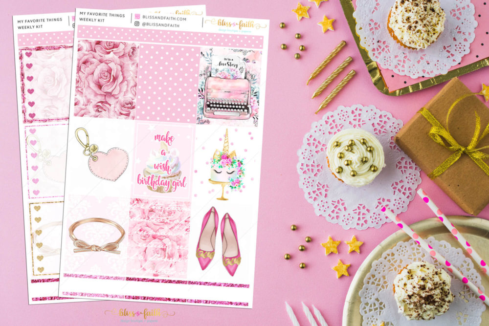 My Favorite Things Weekly Sticker Kit | BlissandFaith.com