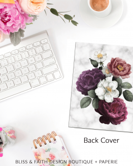 Marble Floral II Planner Cover | BlissandFaith.com