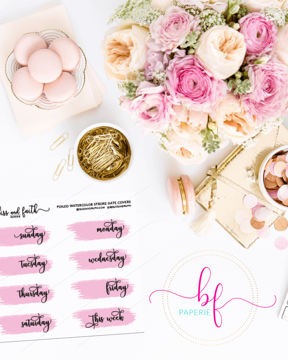 Water Color Stroke Foiled Date Covers | BlissandFaith.com