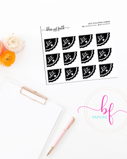 Scalloped Edged Stickers Foiled Edit Stickers | BlissandFaith.com