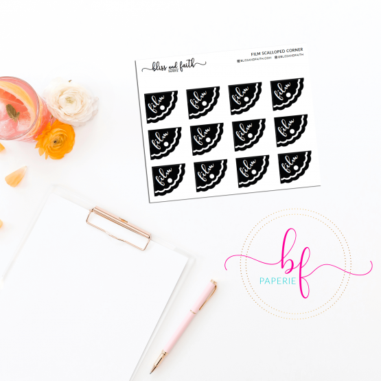 Scalloped Edged Stickers Foiled Film Stickers | BlissandFaith.com