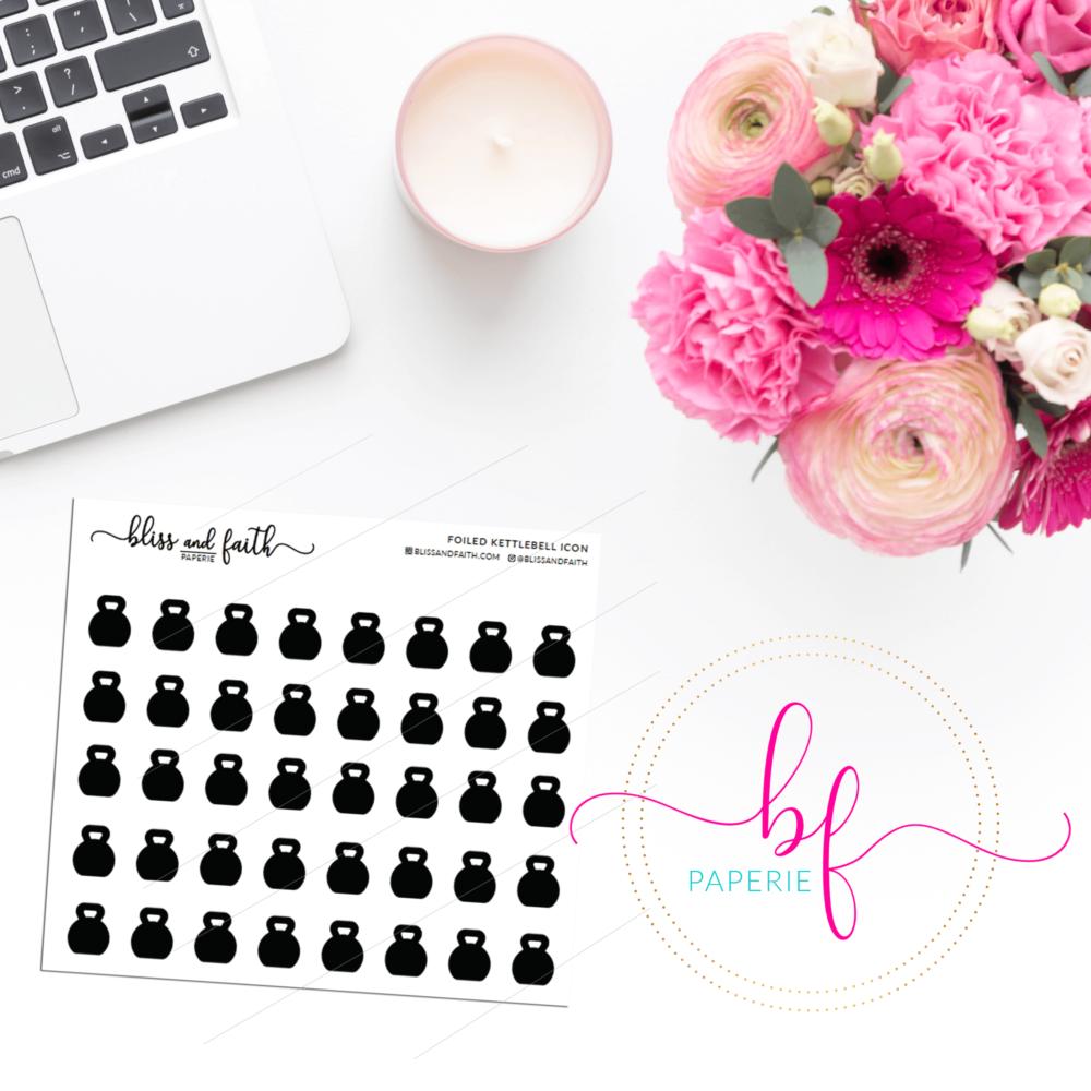 Foiled Icons - Kettlebell | BlissandFaith.com